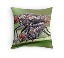Mating Flies (1) ! Throw Pillow