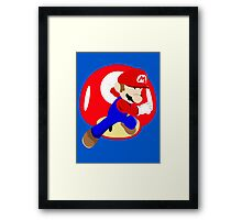 Super Smash Bros Mario Framed Print