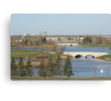 Winnipeg from Kilcona Park Canvas Print
