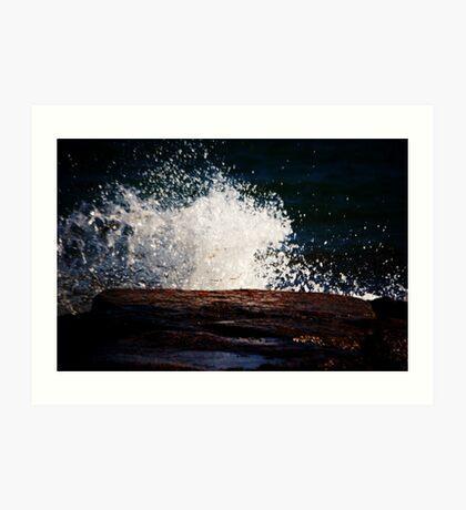 Water against Rocks Art Print
