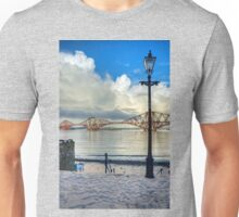 The Boathouse Steps in the Snow Unisex T-Shirt