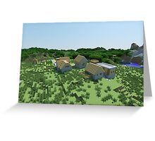 The Village - Minecraft Landscape Greeting Card