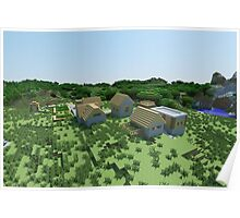 The Village - Minecraft Landscape Poster