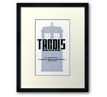 The Tardis Bigger on the Inside Framed Print