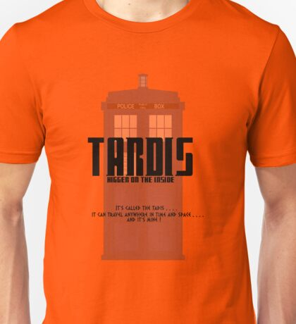 The Tardis Bigger on the Inside Unisex T-Shirt