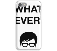 Funny Hipster Glasses Ironic Whatever Humor iPhone Case/Skin