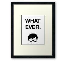 Funny Hipster Glasses Ironic Whatever Humor Framed Print