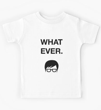 Funny Hipster Glasses Ironic Whatever Humor Kids Tee