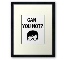 Hipster Meme Funny Shirt Irony Humor Glasses Sarcastic Framed Print