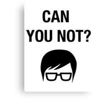 Hipster Meme Funny Shirt Irony Humor Glasses Sarcastic Canvas Print