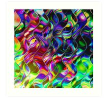 Psychedelic Mirror Waves Art Print