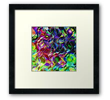 Psychedelic Mirror Waves Framed Print