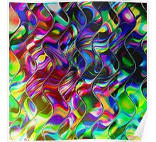 Psychedelic Mirror Waves Poster
