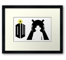 Doctor Who Pattern 3 Framed Print
