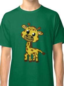 Baby Giraffe Cartoon Classic T-Shirt