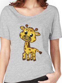 Baby Giraffe Cartoon Women's Relaxed Fit T-Shirt