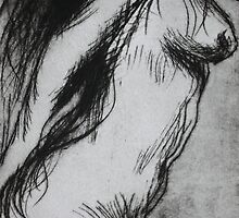 Etching: Nude drypoint by Marion Chapman