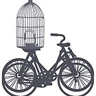 Street bikes and emty bird cage  by SofiaYoushi