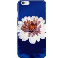 Flower On Blue #3 iPhone Case/Skin