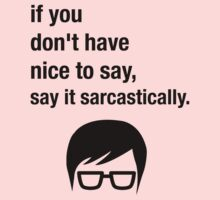 Sarcasm Hipster Funny Glasses Saying Meme One Piece - Long Sleeve
