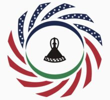 Mosotho American Multinational Patriot Flag Series by Carbon-Fibre Media