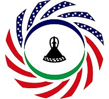 Mosotho American Multinational Patriot Flag Series Photographic Print