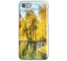 Swan Boats Boston Public Garden iPhone Case/Skin
