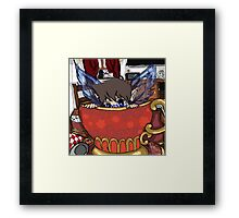Windy Breakfast Time Visitor Framed Print