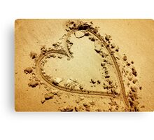 Heart in Sand Canvas Print