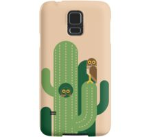 Burrowing owls and cacti vector illustration Samsung Galaxy Case/Skin