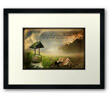 Many are the Afflictions Framed Print