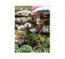 Floating Markets, Thailand Art Print
