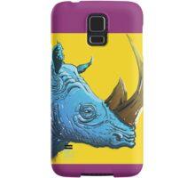 Blue Rhino on Yellow Background Samsung Galaxy Case/Skin