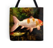 Pink And Orange Gold Fish Tote Bag
