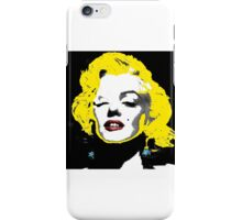 Marilyn Monroe in a Andy Warhol Style  iPhone Case/Skin