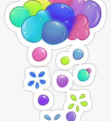 Bubbly Clouds Sticker