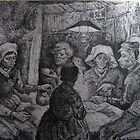 The Potato Eaters reproduction by Christopher Ripley