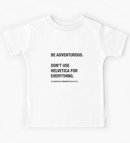 Funny Hipster Designer Sarcasm Helvetica Shirt Kids Tee