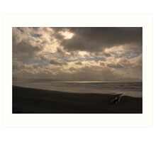 An Irish Beach at Sunset Art Print