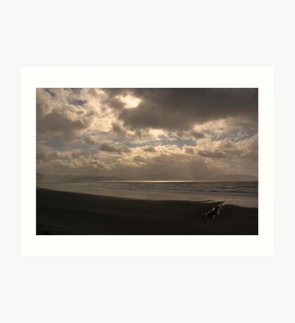 An Irish Beach at Sunset Art Print