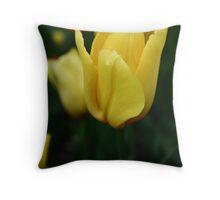 Sunny tulip Throw Pillow