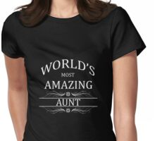 Amazing Aunt Womens Fitted T-Shirt