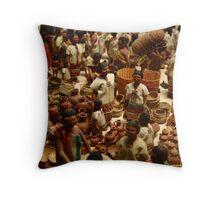 Mini Market Throw Pillow
