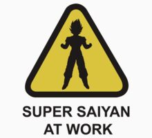 Attention Sign - Super Saiyan at work by maocat1