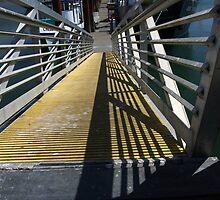 Walkway To The Mooring Docks by Joe Powell