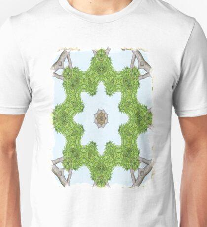 Bark Leaves Stone Kaleidoscope Art 4 Unisex T-Shirt