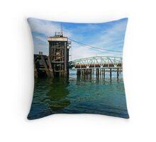 Mukilteo Ferry Pier Throw Pillow