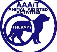 Therapy dog animal asisted activities logo blue  by SofiaYoushi