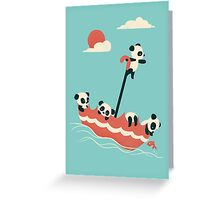 Float On Greeting Card