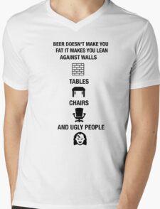Funny Beer Novelty Shirt Humor Drunk Mens V-Neck T-Shirt